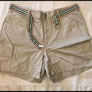Riders shorts with belt